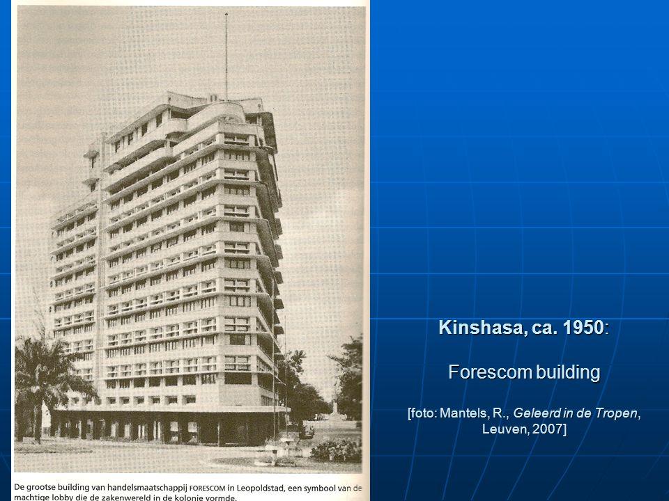 Kinshasa, ca. 1950: Forescom building [foto: Mantels, R